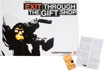 After Banksy, 'Exit Through the Gift Shop and Free Money/Freen Art (two works)', c. 2015