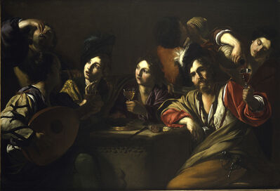 Bartolomeo Manfredi, 'A Drinking and Musical Party', 1615-1620