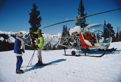 Slim Aarons, 'Snowmass Helicopter'