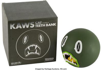 KAWS, 'Cat Teeth Bank (Green)'