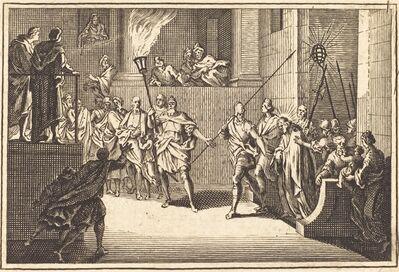 after Sébastien Le Clerc I, 'Christ before Annas'