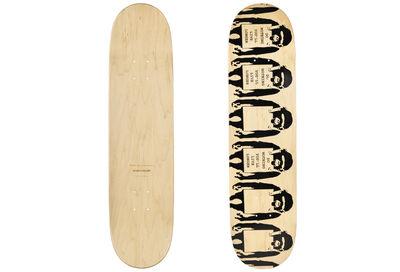 Banksy, 'Monkey Sign Skateboard deck', ca. 2017