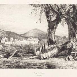 Eugène Isabey, 'Gorge de Royat, Auvergne'