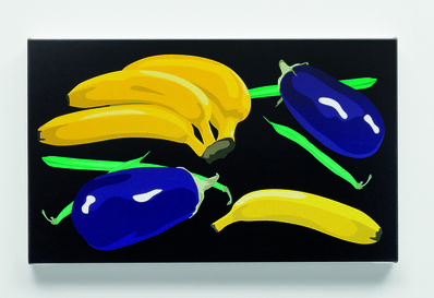 Julian Opie, 'Still life with bananas, aubergines and green beans', 2001