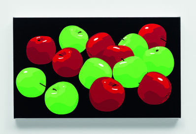Julian Opie, 'Still life with green and red apples', 2001