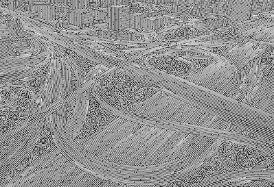 Lu Xinjian 陆新建, 'City Stream - Dubai No.1', 2016