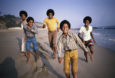Lawrence Schiller, 'Jackson 5, Malibu Beach', 1960-1970