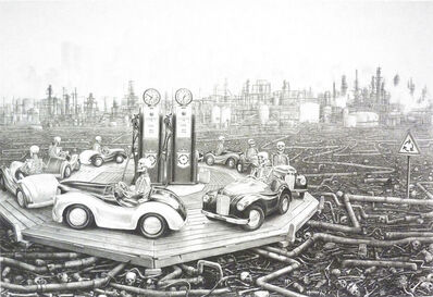Laurie Lipton, 'Round and Round', 2014