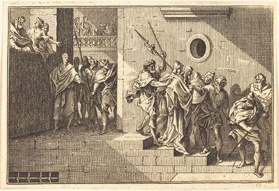 after Sébastien Le Clerc I, 'Herod Sending Christ back to Pilate'