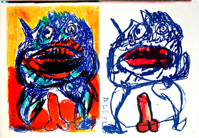 Karel Appel, 'Untitled: 2 Lithographs (from One Cent Life) ', 1964