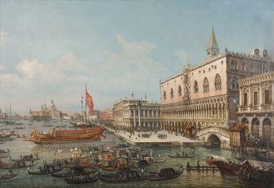 Francesco Zanin, 'The departure of the Bucintoro from San Marco to the Church of San Nicolò al Lido', ca. 1869
