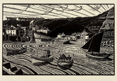 James Dodds, 'Keel Boats and Cobles, Staithes'