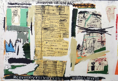 Jean-Michel Basquiat, 'Jawbone of an Ass', 1982-2005