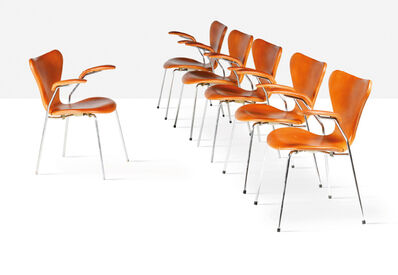 Arne Jacobsen, 'Set of 6 chairs', 1973
