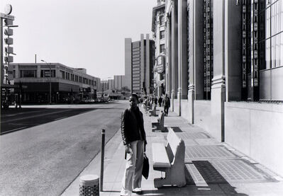 anthony hernandez, 'Public  Transit  Areas,  1st  and  Pine  Ave.,  Looking  North,  from  the  Long  Beach  Documentary  Survey  Project', 1980