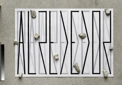 Pablo Accinelli, 'Alrededor (tipografia interna-topografia externa)', 2014