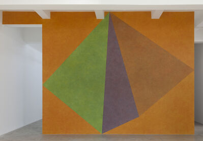 Sol LeWitt, 'Wall Drawing #459, Asymmetrical Pyramid with Color ink washes superimposed', 1985