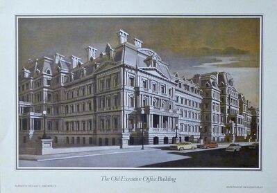 Richard Haas, 'The Old Executive Office Building (hand signed)', 1984