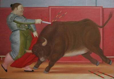 Fernando Botero, 'The Lunge', 1984
