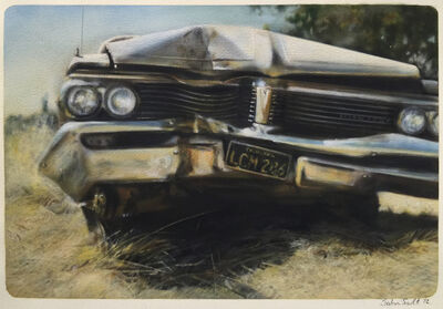 John Salt, 'Destroyed Pontiac (Frontal View)', 1972
