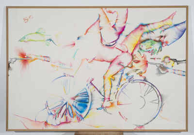 Marisol, 'Lick the Tire of My Bicycicle', 1974