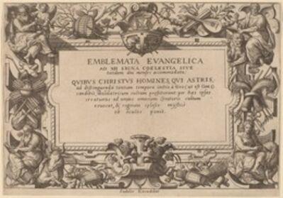 Adriaen Collaert, 'Title Page', 1585