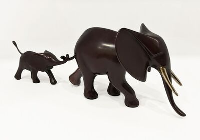 Loet Vanderveen, '#547, Marching Elephant and Baby'