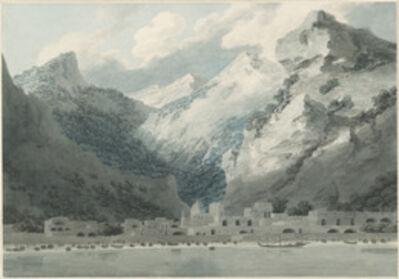 John Robert Cozens, 'Cetara on the Gulf of Salerno', 1790