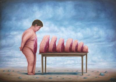 Bruno Pontiroli, 'La ventre à table', 2016