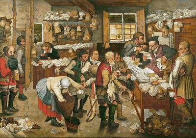 Pieter Bruegel the Younger, 'The Payment of the Tithe or the Village Lawyer ', 1618