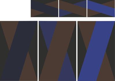 "David Salkin, '""Basic1"" Rug Triptych', 2014"