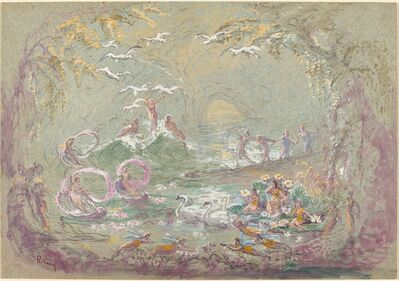 Robert Caney, 'Lake Scene with Fairies and Swans'