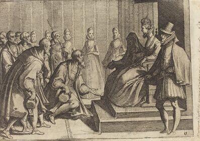 Raffaello Schiaminossi, 'Margaret of Austria Giving Audience to a Nobleman [verso]', 1612