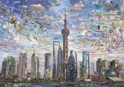 Vik Muniz, 'Shanghai Postcard (Postcards from Nowhere)', 2014