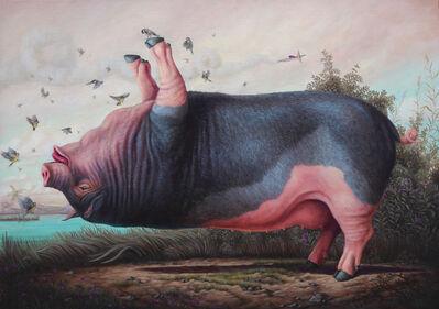 Bruno Pontiroli, 'Le cochon pendu', 2019