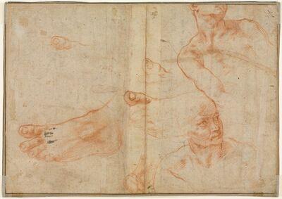 Michelangelo Buonarroti, 'Figure Studies for the Sistine Ceiling (verso)', 1510-1511