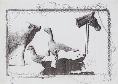 Maria Lai, 'Bambino con chiodo ed animali', 1979