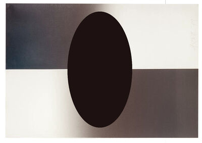Larry Bell, 'Untitled (Horizontal Fade Ellipse)', 1984