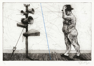 William Kentridge, 'Man with Megaphone Cluster'