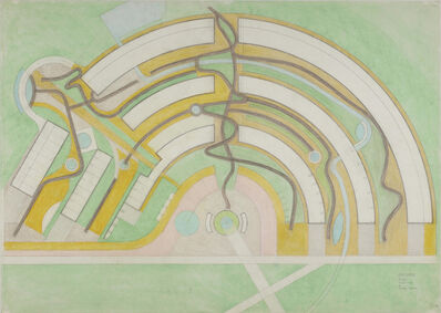 Paolo Soleri, 'Presidio, plan, scale 1:500', 1993