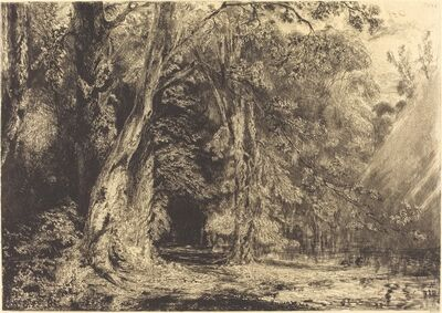 Paul Huet, 'Flooding in the Forest of the Ile Séguin', ca. 1833