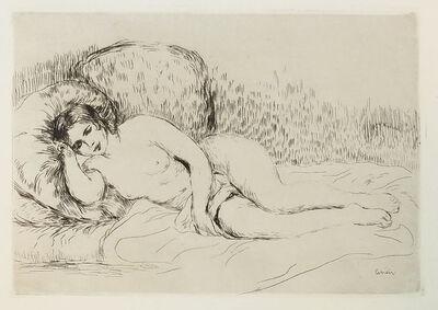 Pierre-Auguste Renoir, 'Femme Nue Couchée (Tournée à Gauche)', 1907