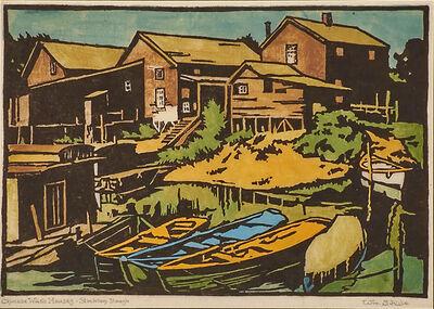 William S. Rice, 'Chinese Wash Houses - Stockton Slough, California', ca. 1915-20