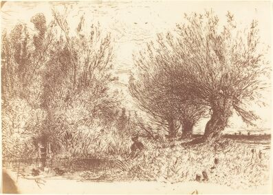 Paul Huet, 'Banks of a River (Bords de Riviere)', ca. 1866