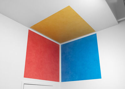 Sol LeWitt, 'Wall Drawing #764: A yellow square on the ceiling and a red and blue square on the adjacent corner walls', First installation: Private residence, New York, September 1994