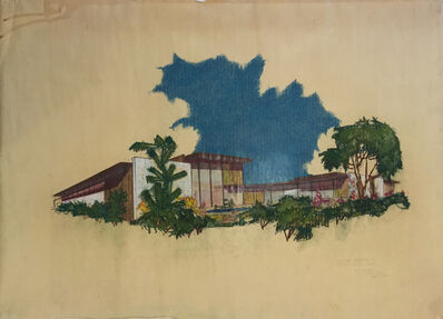 Richard Neutra, 'Perspective Elevation from South East, Lillien Residence', 1953