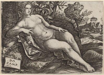 Domenico Campagnola, 'Venus Reclining in a Landscape', 1517