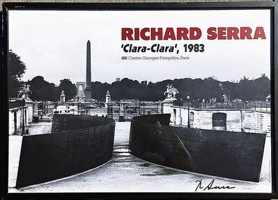 Richard Serra, 'Clara, Clara (Hand Signed)', 1983