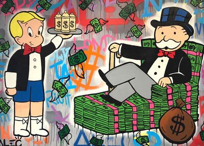 Alec Monopoly, 'Richie spray can and Monopoly', 2017