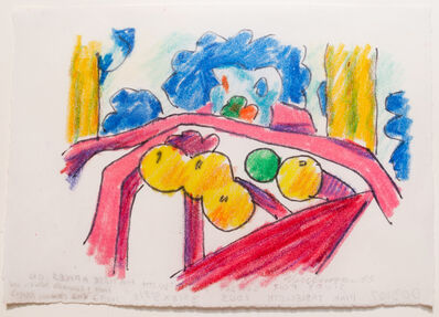 Tom Wesselmann, 'Sunset nude with Matisse apples on pink tablecloth (study)', 2003